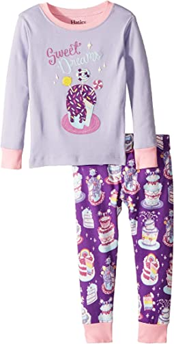 Sweet Dreams Organic Cotton Applique Pajama Set (Toddler/Little Kids/Big Kids)