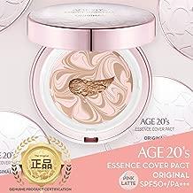 La edad de 20 maquillaje compacto Fundación Premium, + 1 Recarga extra - rosa Latte Esencia cubierta Pacto SPF50 + (Hecho en Corea) - Rosa / Beige Natural (color 23)
