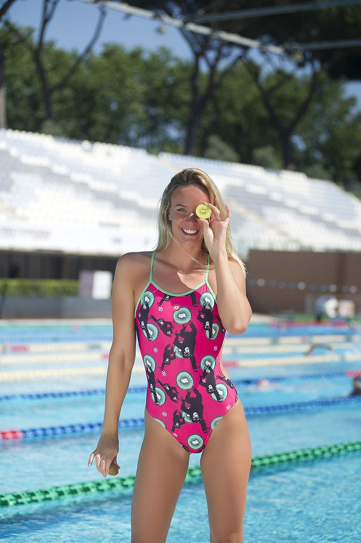 ARENA Damen Tie Back MaxLife One Piece Swimsuit Badeanzug