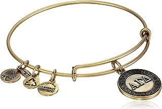 Sorority Alpha Gamma Delta Expandable Wire Bangle Bracelet