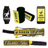 Gibbon Slacklines XL Classic Line mit Treewear, Gelb, 25 Meter (22,5m Band + 2,5