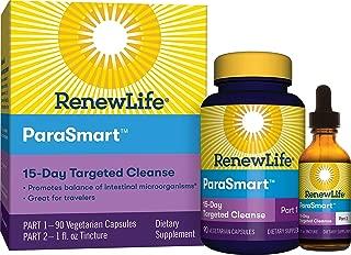 Renew Life Adult Cleanse - ParaSmart - 2-Part, 15-Day Program - Gluten, Dairy & Soy Free - 90 Vegetarian Capsules + 1 Fl. Oz. Tincture