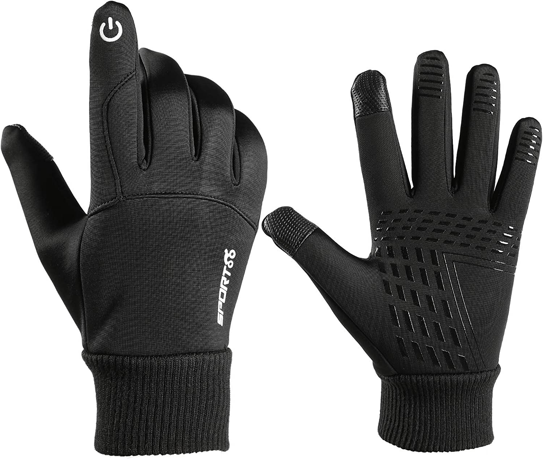 Men's Winter Gloves Fleece Warm Outdoor Waterproof Touch Screen Gloves for Men Women