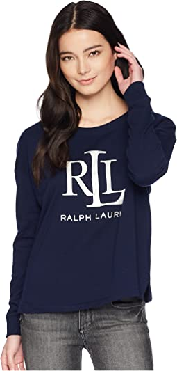 Petite LRL French Terry Sweatshirt