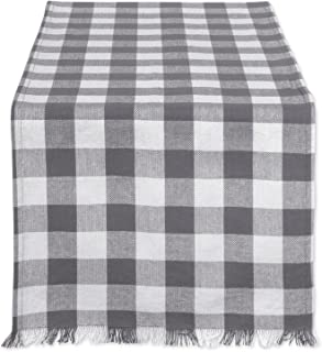 DII CAMZ37577 HEAVYWEIGHT FRINGED TR CHECK 14X72, Checkers Gray