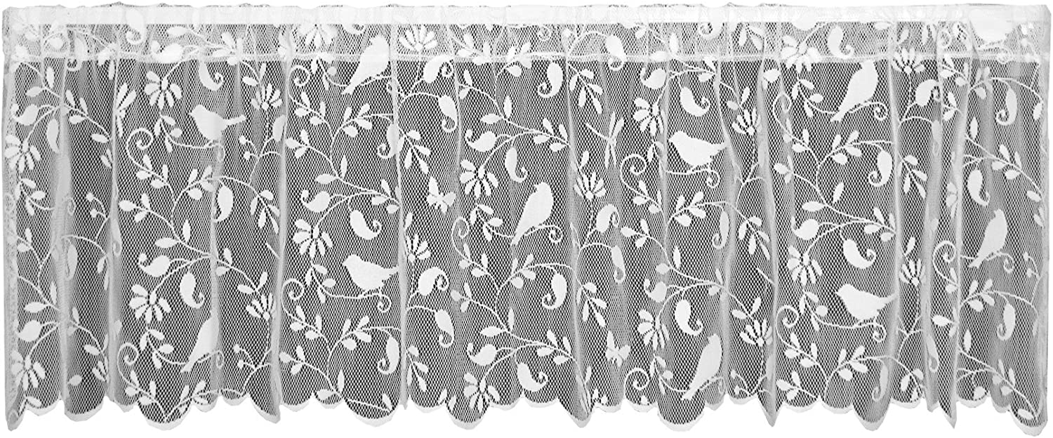 Heritage Lace Bristol Garden Valance by 60 2021new shipping free shipping 6305W Cheap super special price White 18-Inch