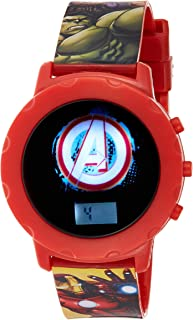Marvel Avengers Boys Digital Led display with Character Wristwatch - MV15549