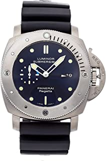 Luminor Mechanical (Automatic) Blue Dial Mens Watch PAM 371 (Certified Pre-Owned)