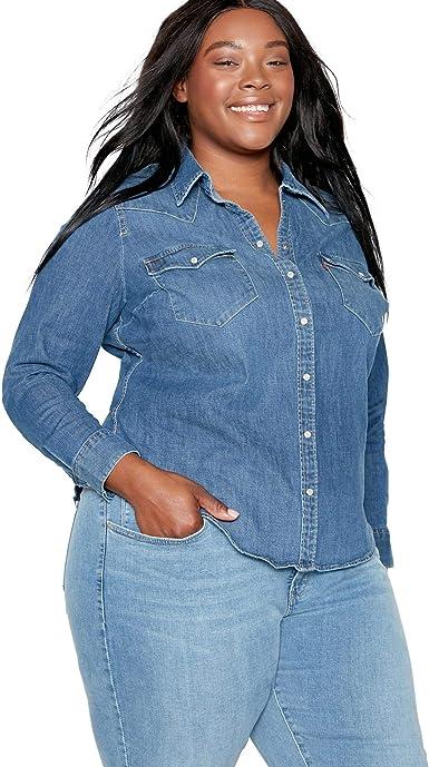 Levis Plus Size Pl Western Blusa para Mujer