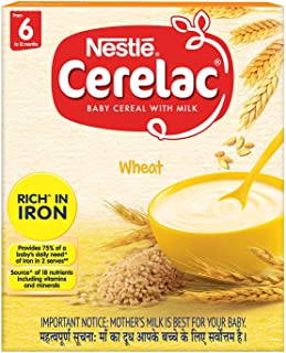 Nestle Cerelac Fortified Baby Cereal with Milk, Wheat – From 6 Months, 300g Pack