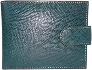 TOUGH Genuine Leather Wallets for Men High Quality- Green & Tan