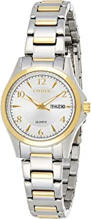 CITIZEN Womens Quartz Watch, Analog Display and Stainless Steel Strap - EQ0595-55A