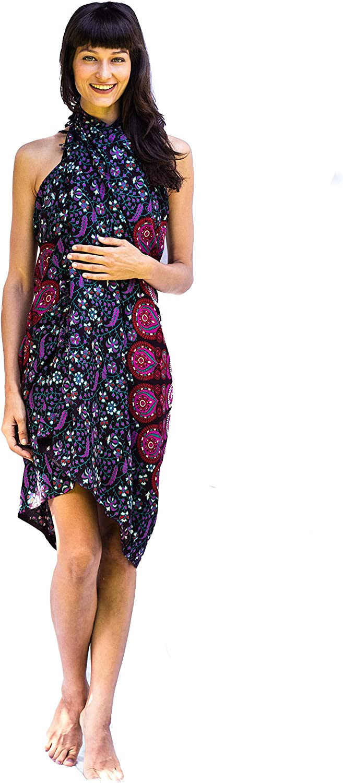 100/% Tissu Batik Rayon Sarong Boho Bikini Couvrir Tapisserie /Écharpe Par/éo Boh/ème de Plage Femme Couverture 180x120 cm Ch/âle Emballage
