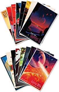 "The Complete Set of Sixteen (16) NASA JPL's (Jet Propulsion Lab) Visions of The Future Space Travel Prints - Each Measure 12"" Wide x 18"" high (305mm Wide x 458mm high)"