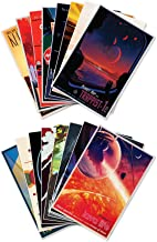 The Complete Set of Sixteen (16) NASA JPL's (Jet Propulsion Lab) Visions of The Future Space Travel Prints - Each Measure 18
