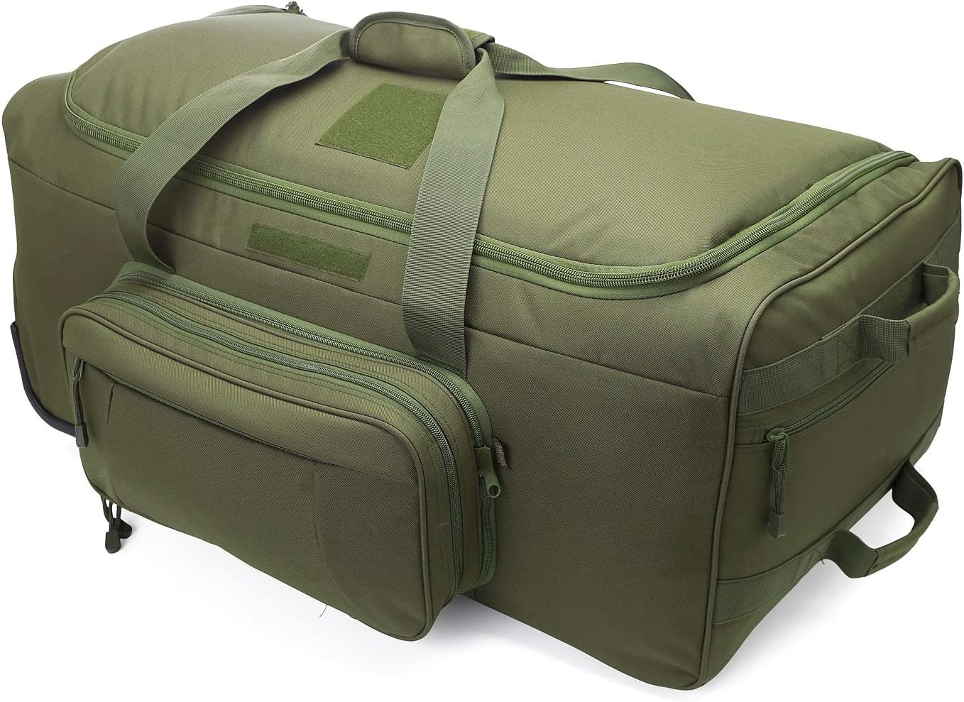 WolfWarriorX Duffel Bag Wheels Rolling Deployment Bag Wheeled Military Suitcase