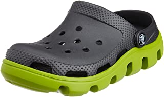 crocs Unisex Black and Green Rubber Clogs and Mules