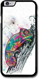Trippy Colourful Chameleon Illustration Hipster Animal case for iPhone 6 Plus 6S Plus