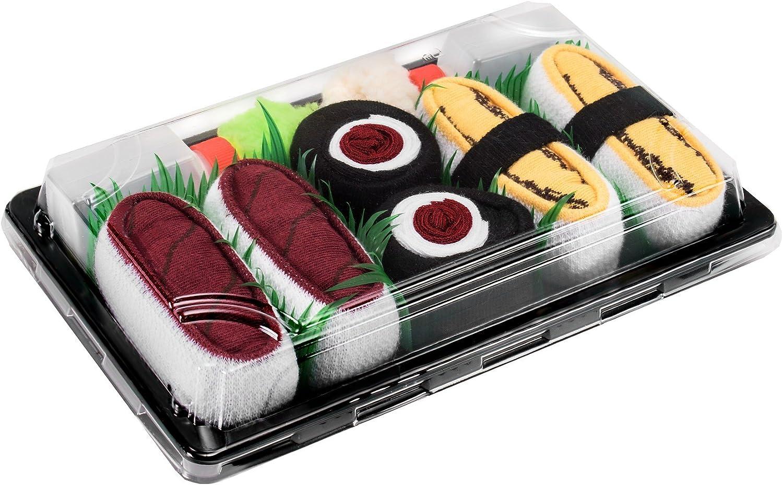 SUSHI SOCKS BOX 3 pairs Tamago Tuna Maki Tuna FUNNY GIFT  Made in Europe