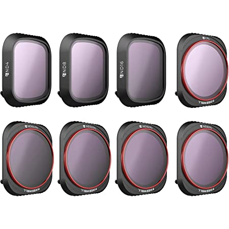 Freewell All Day – 4K Series – 8Pack ND4, ND8, ND16, CPL, ND8/PL, ND16/PL, ND32/PL, ND64/PL Camera Lens Filters Compatible with Mavic 2 Pro Drone