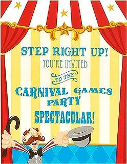 Carnival Games Invitations