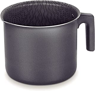 Tramontina Black Milk Boiler Pot 14 cm - Paris Line | 1.8 Litre nonstick Aliminium & Starflon milk pot / steamer pot.