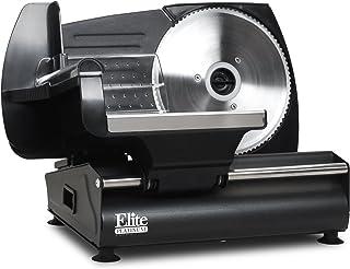 Maxi-Matic Elite Platinum Ultimate Precision Electric Deli Food Meat Slicer, Removable..