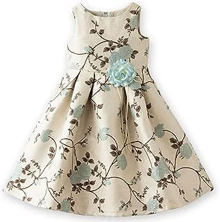 (キャサリンコテージ) Catherine Cottage子供ドレス 女の子 キッズ 子ども フォーマル 120 130 140 150 160 cm ジュニア 結婚式 ピアノ 発表会 七五三 ピンク 水色 ベージュ リッチ&シック花柄ジャガードドレス
