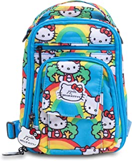 JuJuBe x Hello Kitty Mini Be Right Back | Travel-Friendly, Compact Style Backpack Purse, Adjustable Straps, for Kids and Adults | Hello Rainbow