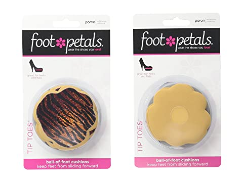 Foot PetalsTip Toes 6-Pair Pack Combo