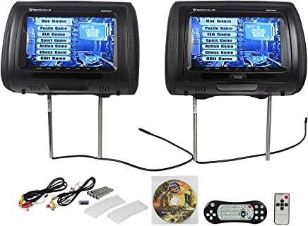Rockville RDP931-BK 9 Black Car DVD/USB/HDMI Headrest Monitors+Video Games