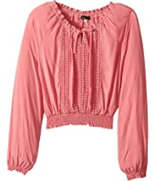 Ella Moss Girl - Alba Boat Neck Top (Big Kids)