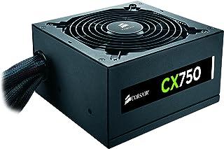 Corsair CX750 Unidad de - Fuente de alimentación (750 W, 90-264 V, 47-63 Hz, 5-10 A, 12V,+3.3V,+5V,+5Vsb,12V, Activo)