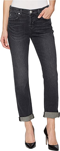 Hudson Riley Crop Relaxed Straight or Rolled Jeans in Revok