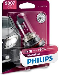 Philips 9007 VisionPlus Upgrade Headlight Bulb with up to 60% More Vision