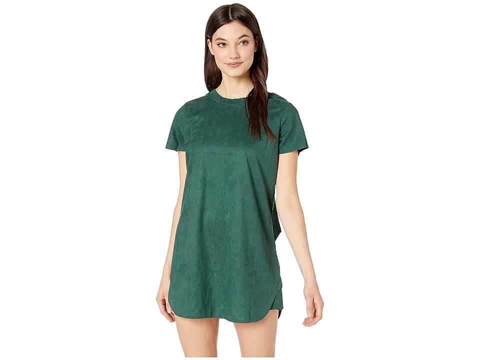 MINKPINK Remember Me Suede Tee Dress (Emerald) Women