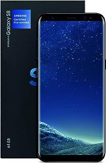 三星盖乐世 S8 认证工厂无锁手机 - 5.8 英寸屏幕 - 64GB - 午夜黑色(美国保修)