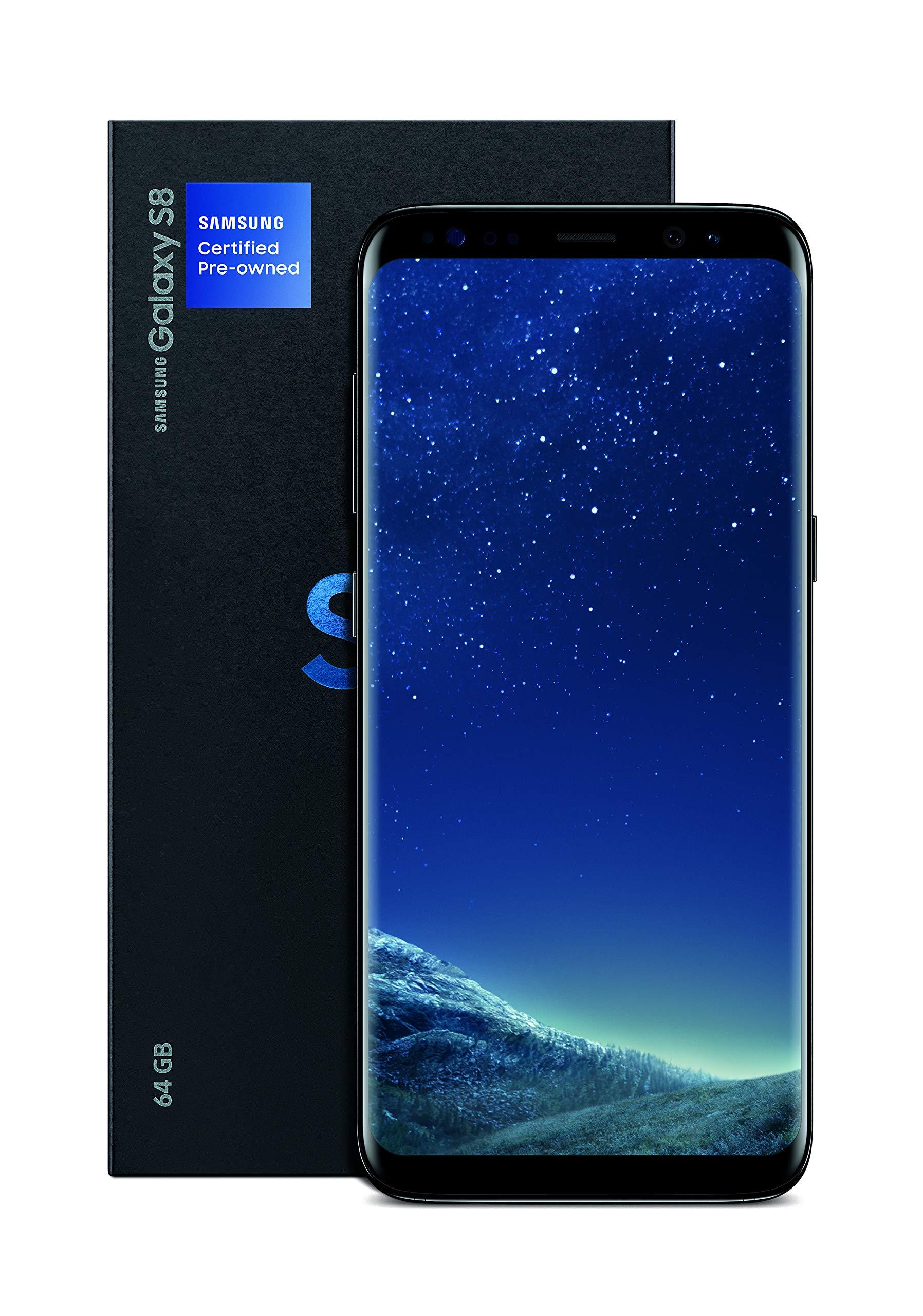 Samsung Galaxy S8 Certified Pre-Owned Factory Unlocked Phone - 5.8Inch Screen - 64GB - Midnight Black (U.S. Version) (Rene...