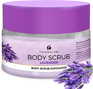 Salt & Oil Based Lavender Body Scrub for Women & Men, 14 Oz, Dead Sea Salts Exfoliator: Goodbye Blackheads, Ingrown Hairs ...