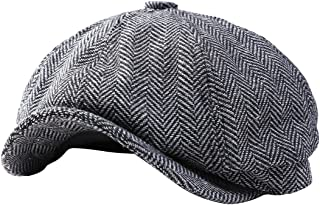 GESDY Mens Vintage Newsboy Ivy Cap Flat Octagonal Golf Driving Hat Beret Cabbie Gatsby