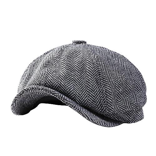 23299b96e97 GESDY Mens Vintage Newsboy Ivy Cap Flat Octagonal Golf Driving Hat Beret  Cabbie Gatsby