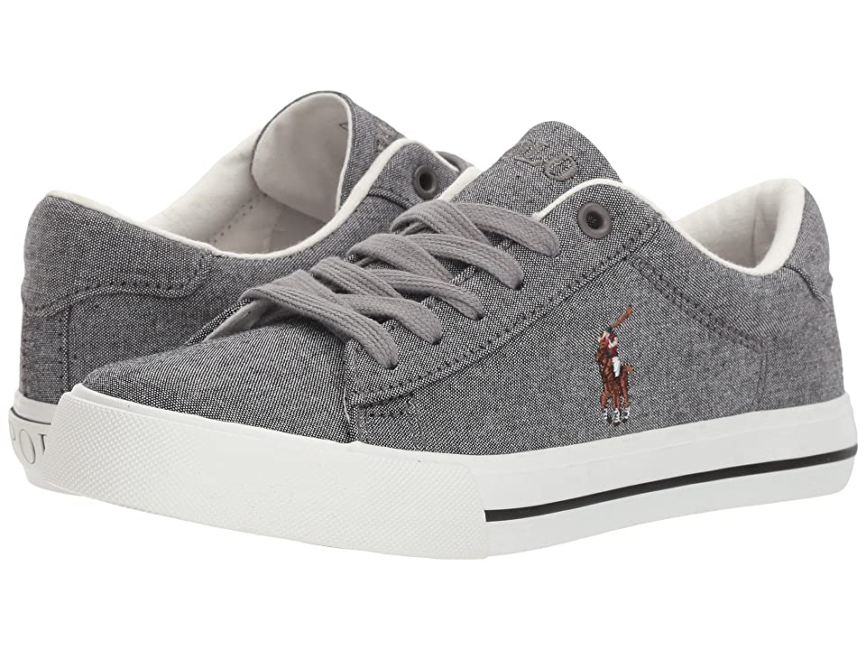 Polo Ralph Lauren Kids Easten (Big Kid) (Grey Chambray/Multi Pony Player) Kid