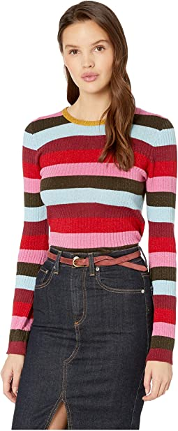 Stripe Sweater in Holiday Party