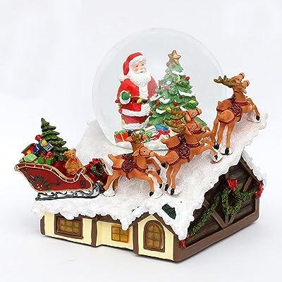 Santa Bonhomme de neige dimensions H//l///Ø boule: environ8,5/x 7/cm///ø 6,5/cm Boule de neige