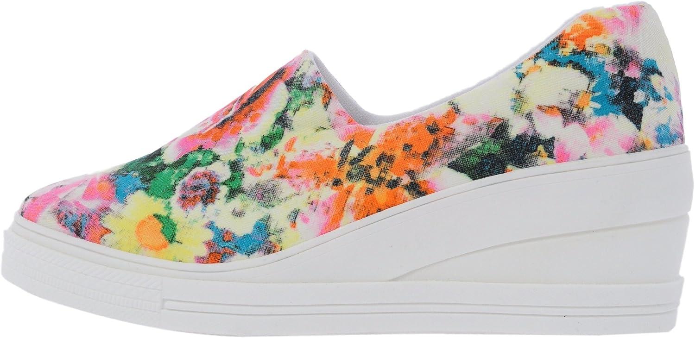 Maxstar 7H Denim Cotton Spandex Slip on Sneakers Black