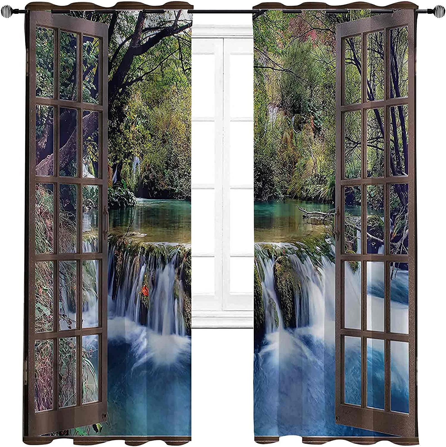 Waterfall The Living Room has Deep free shipping overseas Powerful Curtains D Blackout