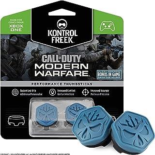 KontrolFreek Call of Duty Modern Warfare Performance Thumbsticks for Xbox One and Xbox Series X   2 Mid-Rise, Convex   Blu...