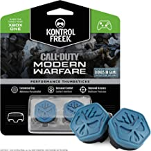 KontrolFreek Call of Duty Modern Warfare Performance Thumbsticks for Xbox One | 2 Mid-Rise, Convex | Blue/Black