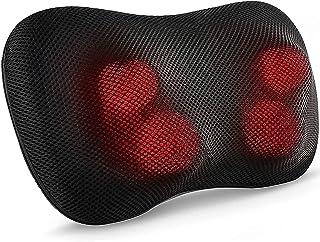 Coussin de Massage du Dos, des Épaules et du Cou avec Fonction Chauffante, Tête de Massage Rotative 3D Coussins de Nuque M...