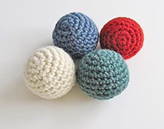 Handmade Cat Toy Balls, Choose Stuffed with Organic Catnip or No Catnip Added